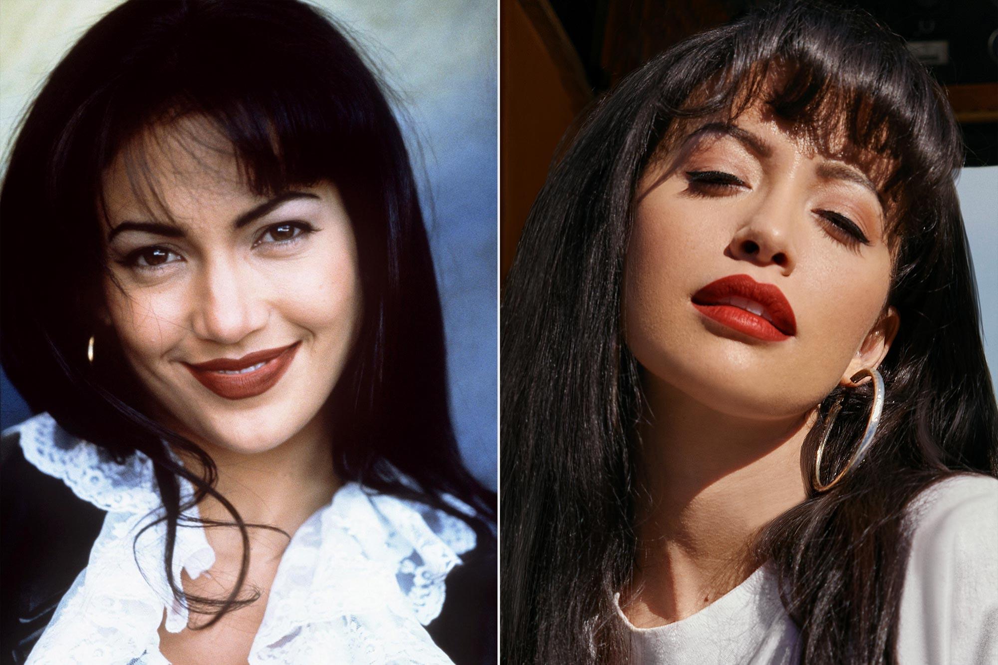 Jennifer Lopez Passes Selena Baton To Christian Serratos Ew Com