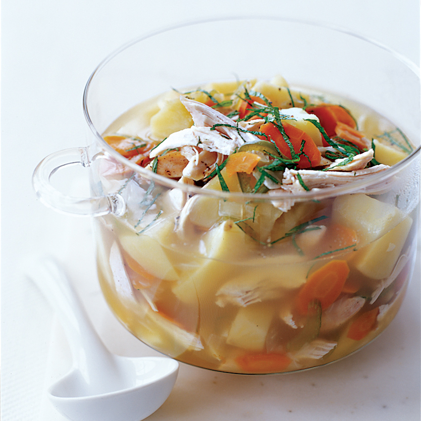 Chicken And Potato Soup With Lemongrass Recipe Maggie Pond Food Wine