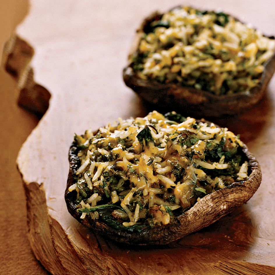 Poblano And Cheddar Stuffed Portobello Mushrooms Recipe Grace Parisi Food Wine