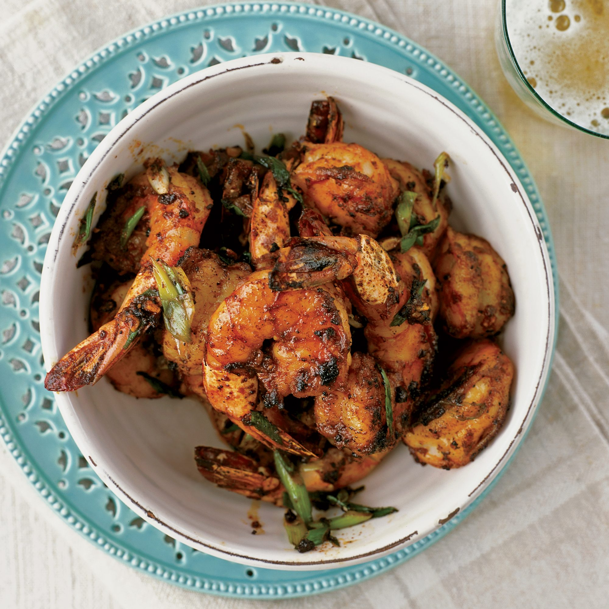 Peel And Eat Shrimp With Barbecue Spices Recipe Bobby Flay Food Wine