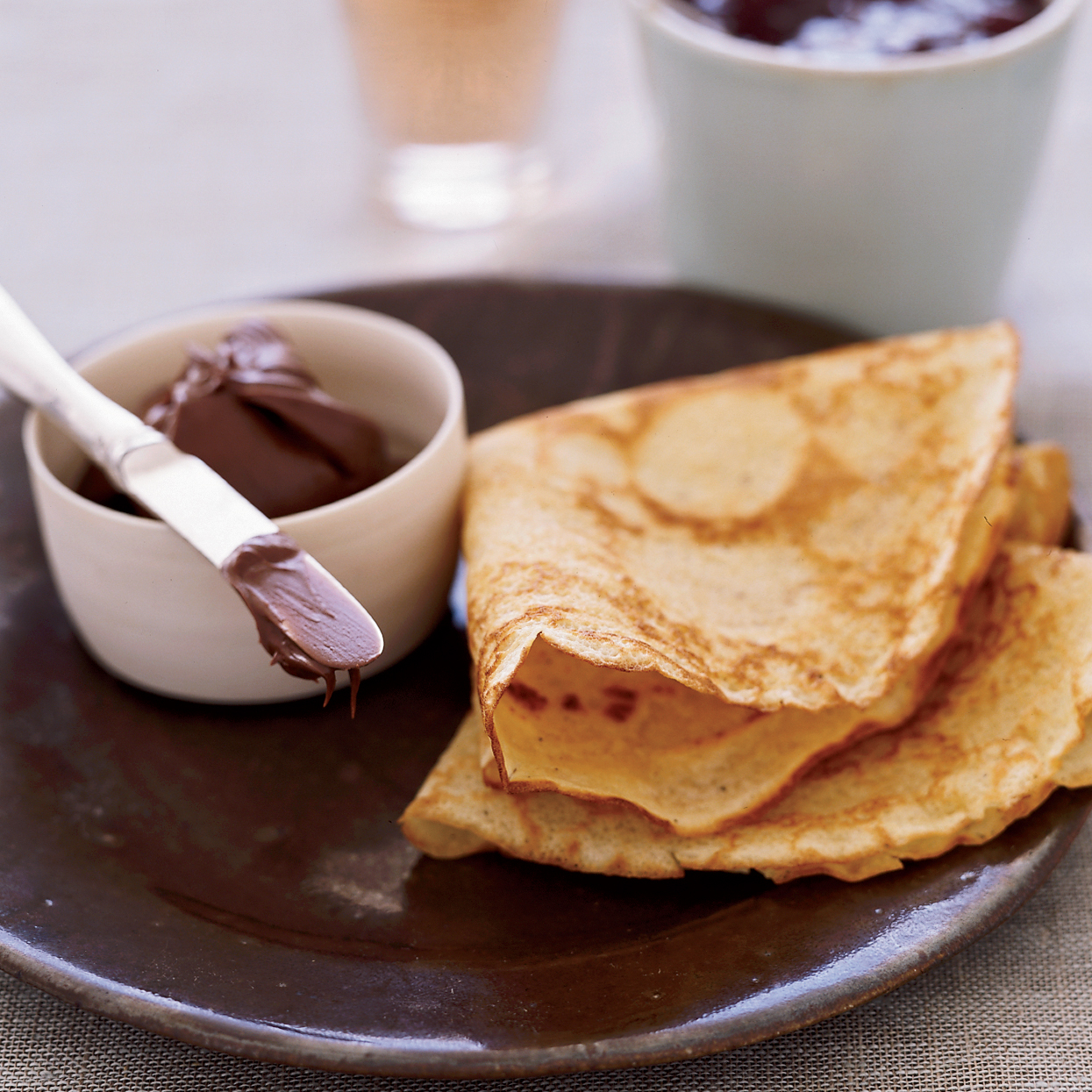 Brown Butter Cr Ecirc Pes With Nutella And Jam Recipe Mike Price Food Wine