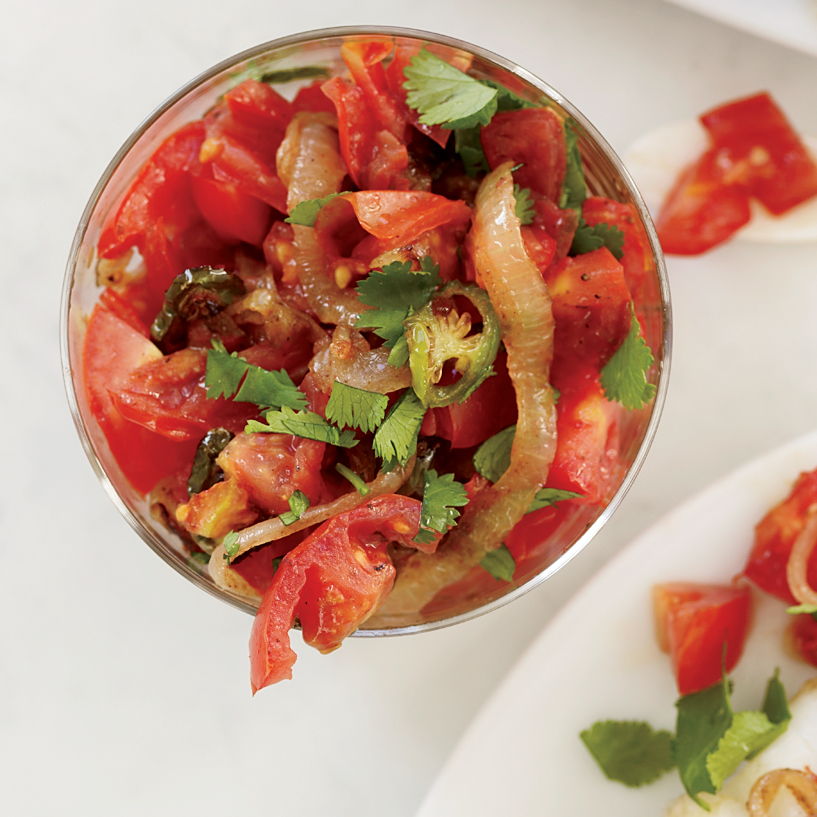 Indian Spiced Tomato Salsa Recipe Grace Parisi Food Wine
