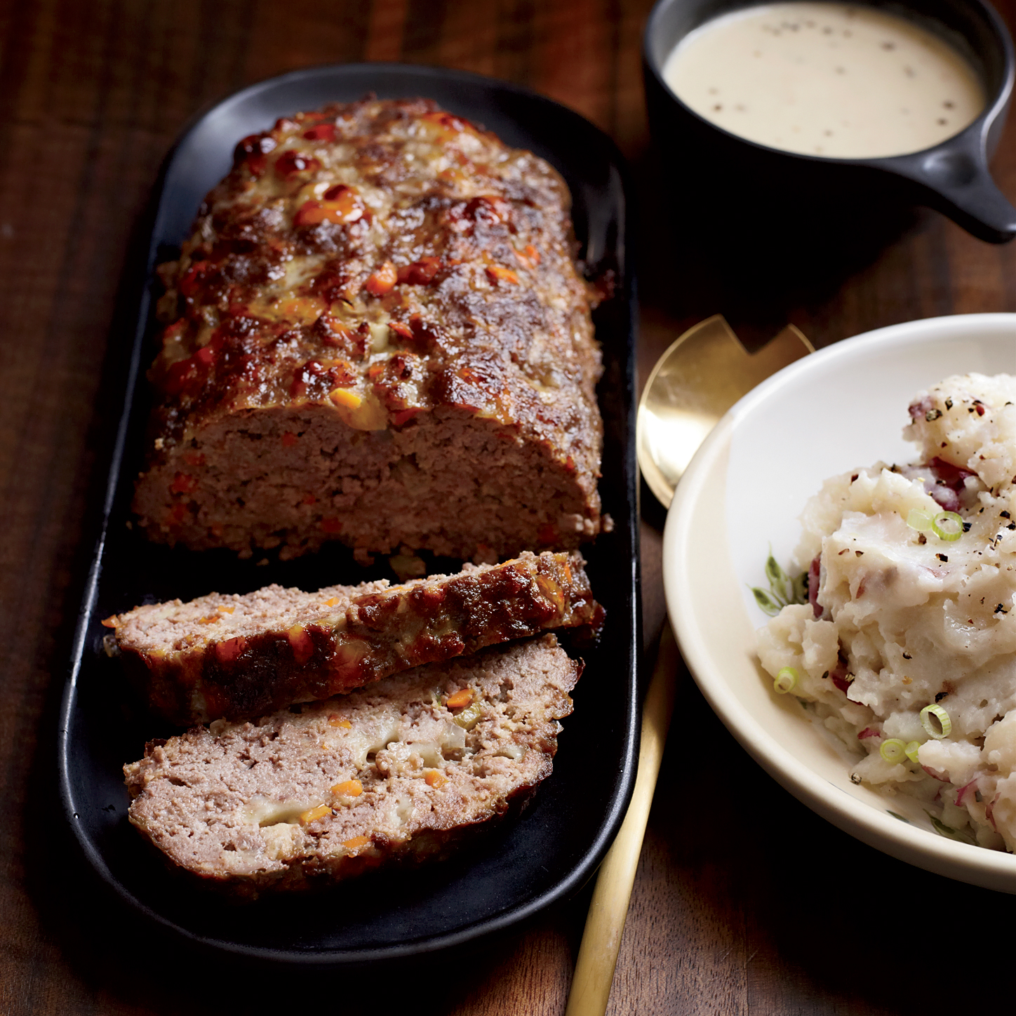 Meat Loaf With Creamy Onion Gravy Recipe Andrew Curren Food Wine