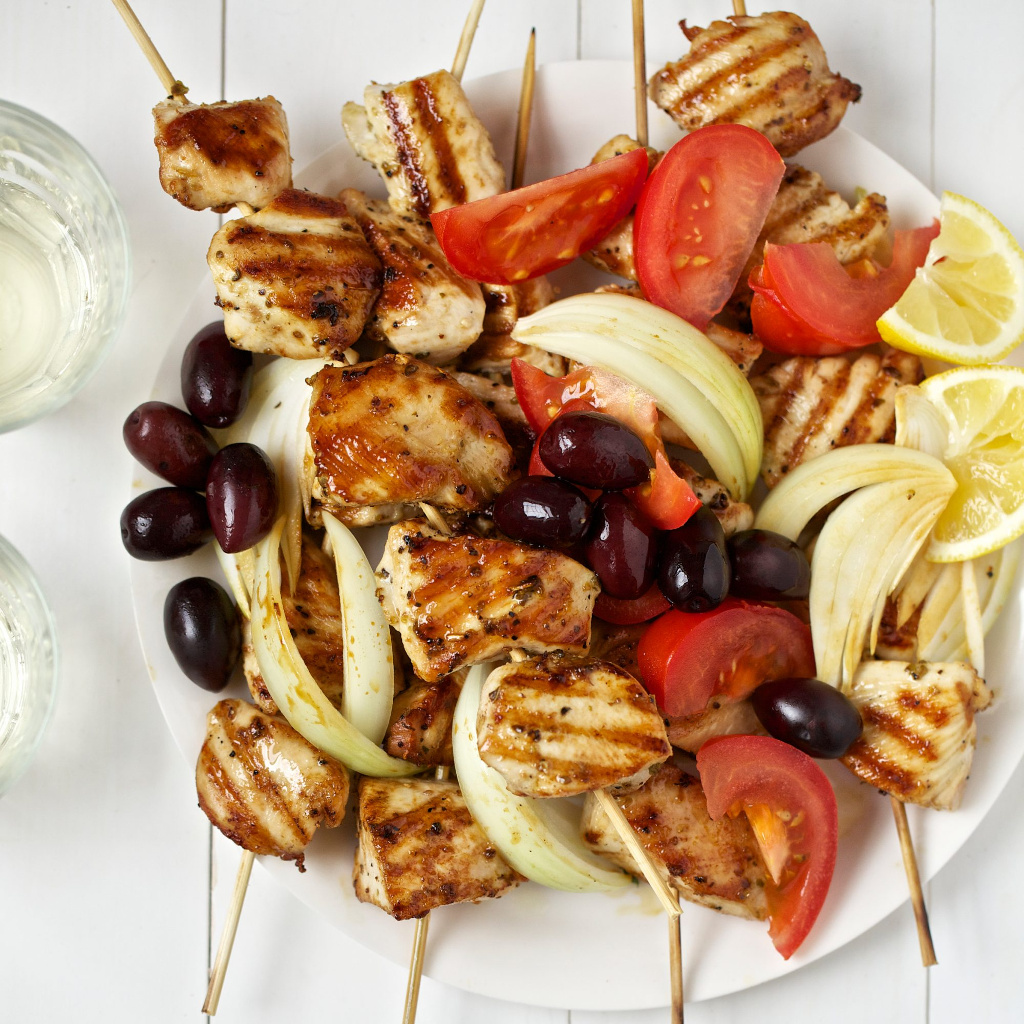 Chicken Souvlaki Recipe Quick From Scratch Chicken Food Wine