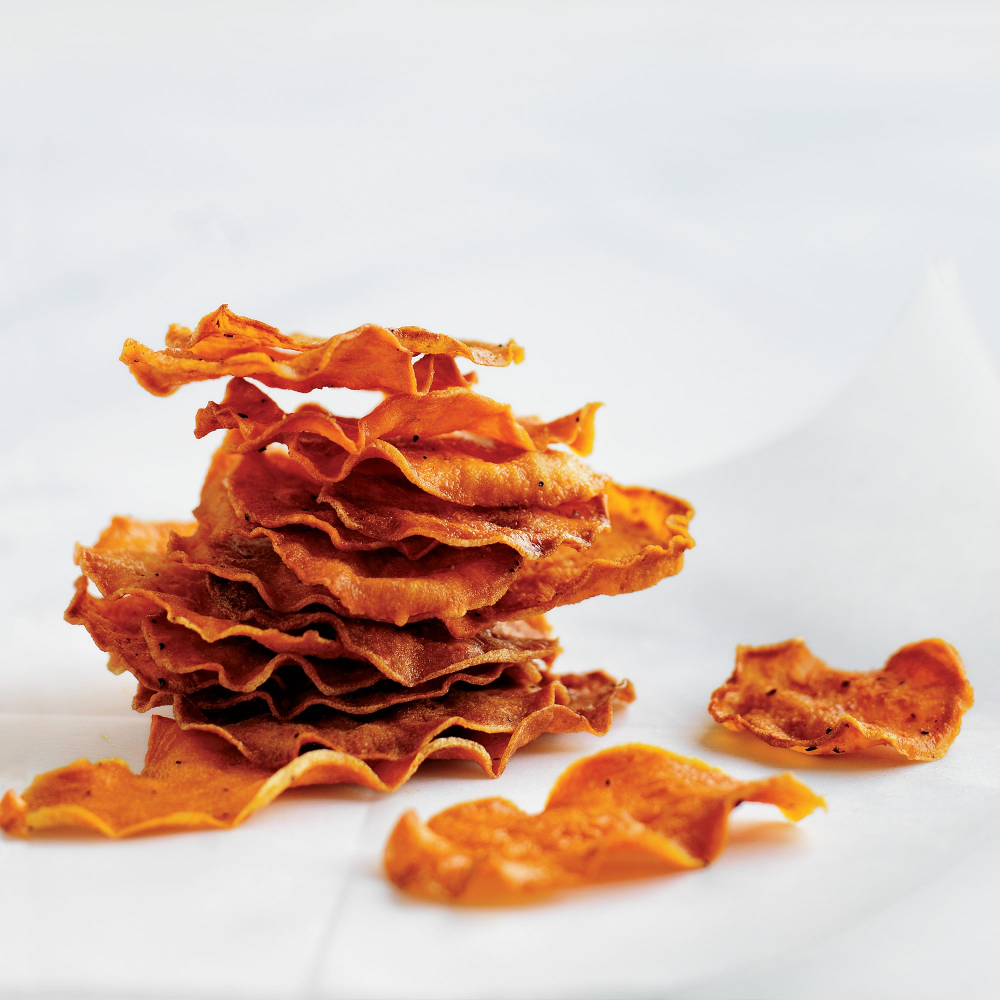 Baked Sweet Potato Chips Recipe Kay Chun Food Wine
