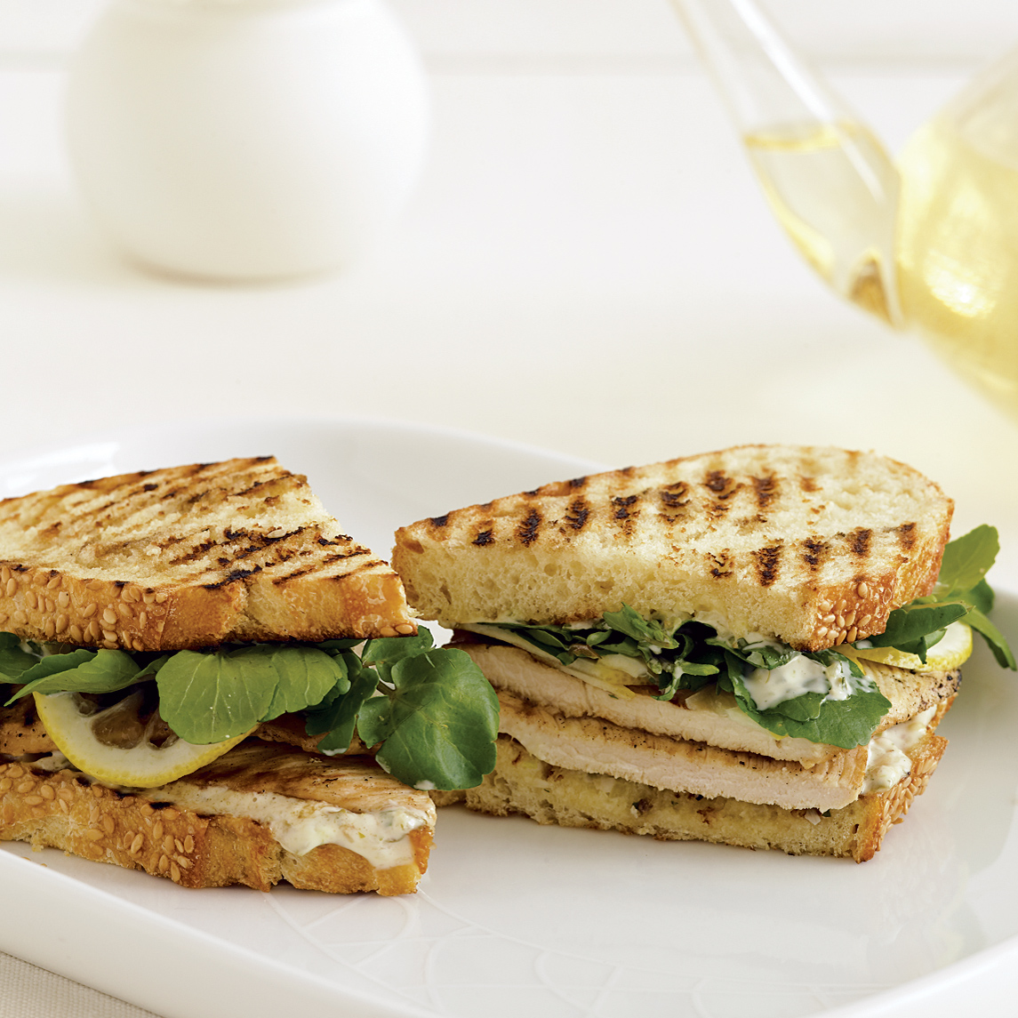 Grilled Chicken Sandwiches With Remoulade And Shaved Lemon Recipe Annie Miller Food Wine