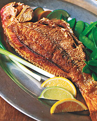 Crisp Whole Red Snapper With Asian Citrus Sauce Recipe Quick From Scratch Fish Shellfish Food Wine