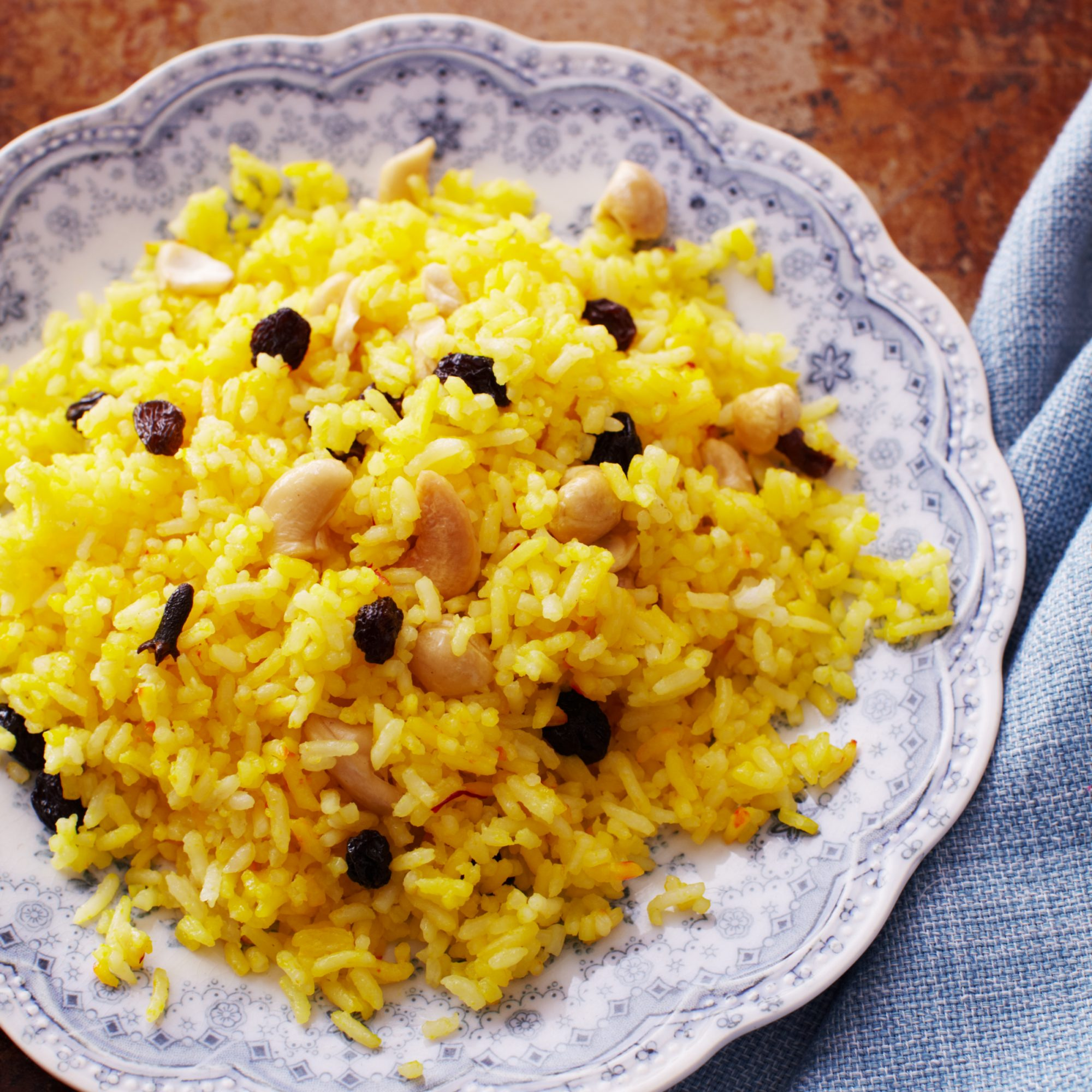 Saffron Rice With Cashews And Raisins Recipe Quick From Scratch Herbs Spices Food Wine