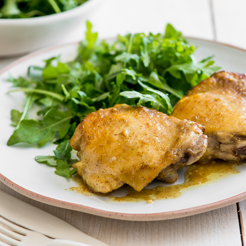 Honey Mustard Baked Chicken Thighs Recipe Todd Porter And Diane Cu Food Wine