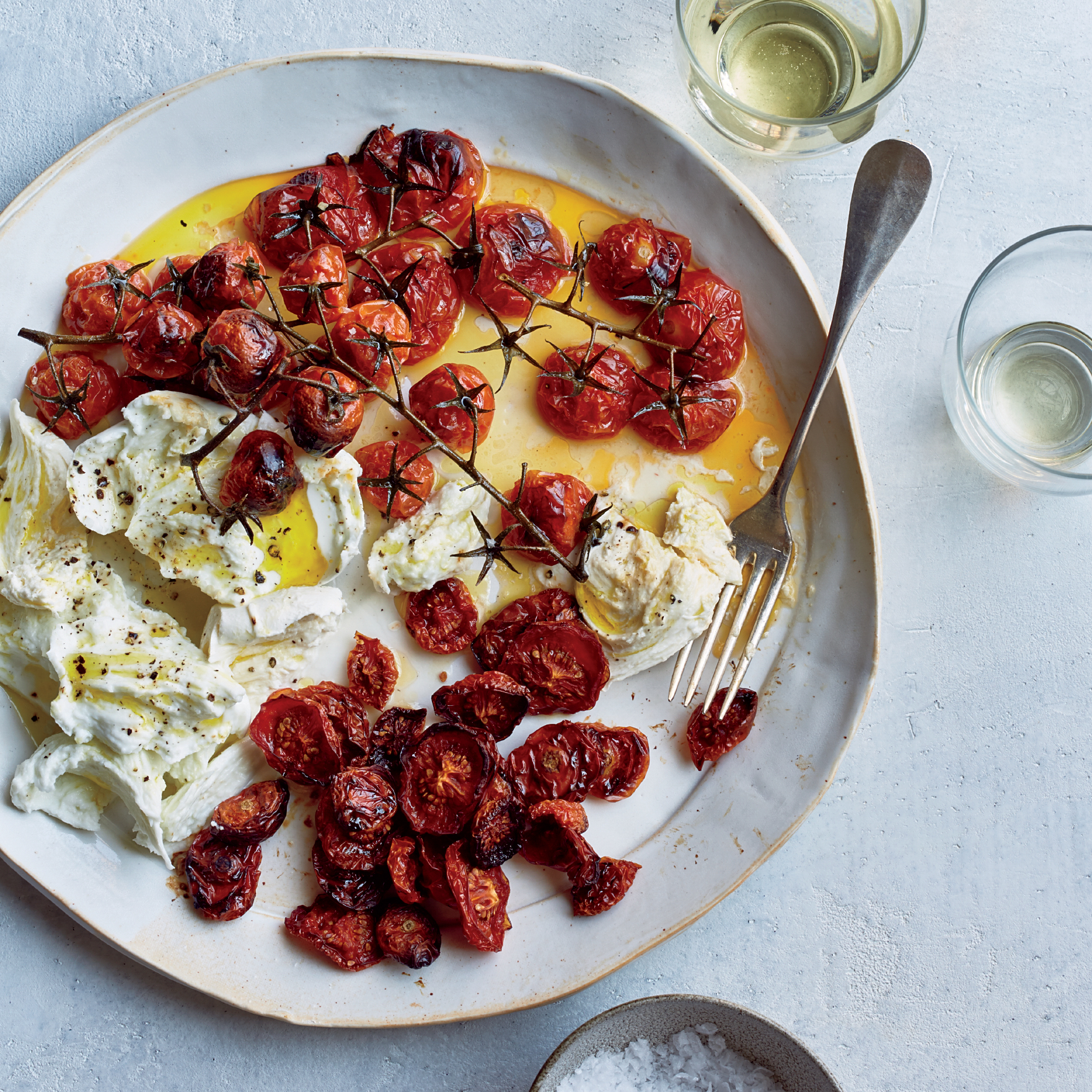 Buffalo Mozzarella With Neat And Messy Roasted Tomatoes Recipe Rachel Roddy Food Wine