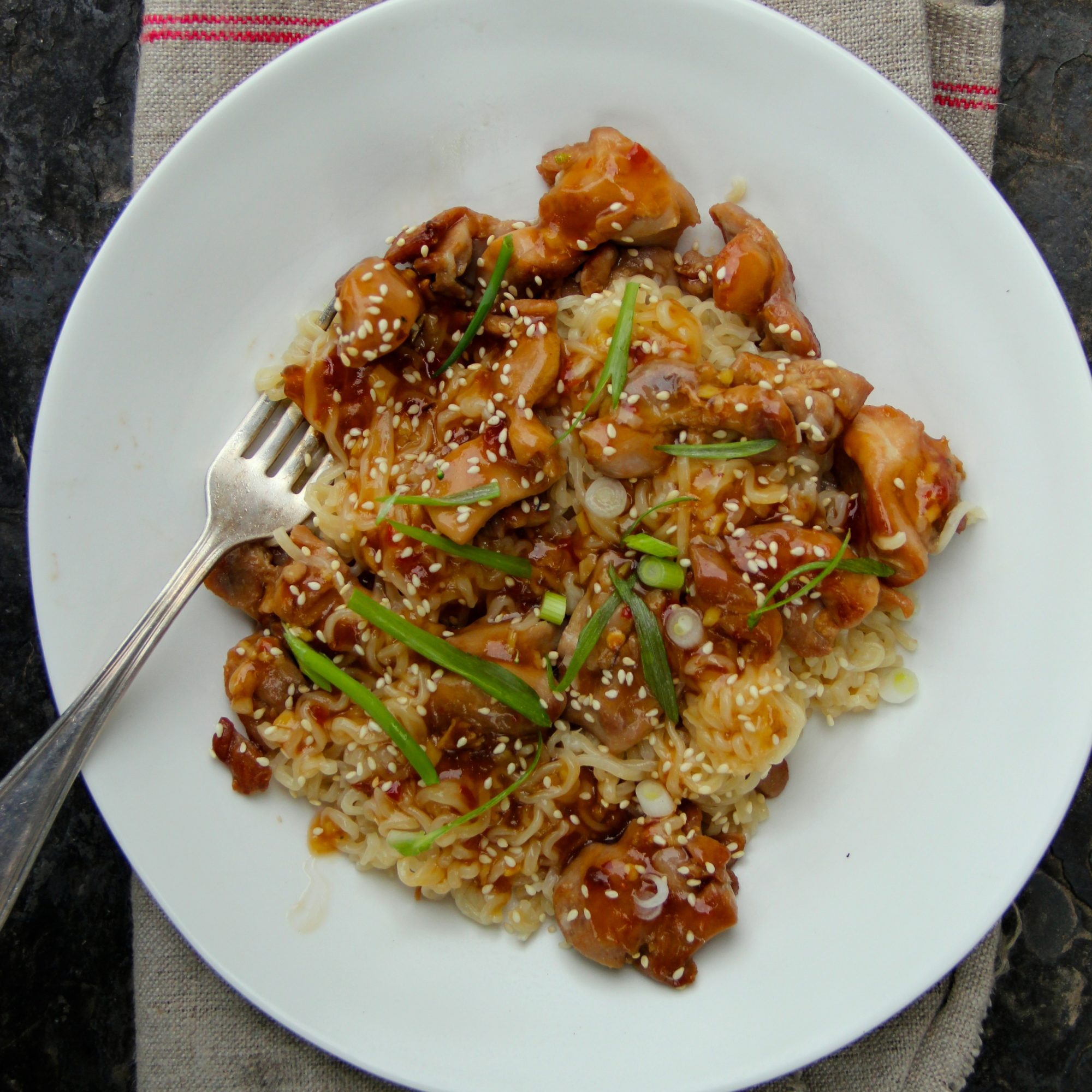 Sesame Chicken Noodles Recipe Ian Knauer Food Wine