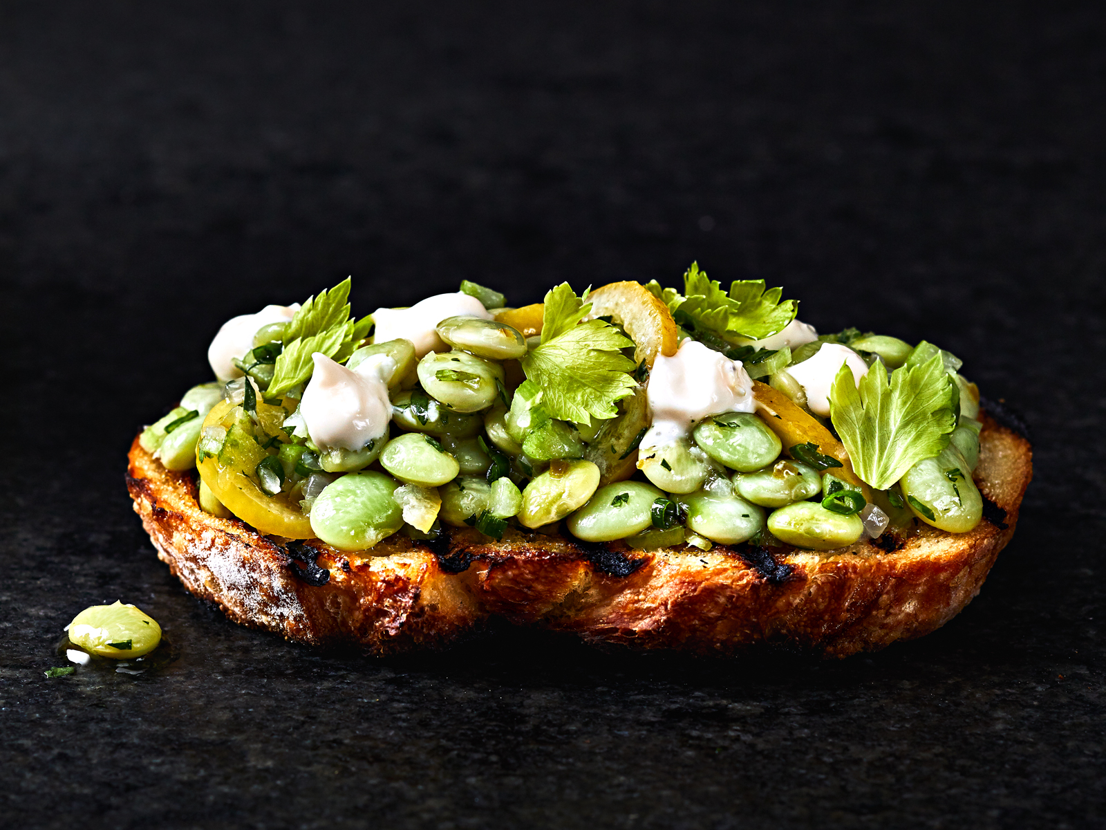 Garlic Toasts With Lemon Aioli And Marinated Beans Recipe Liz Mervosh Food Wine
