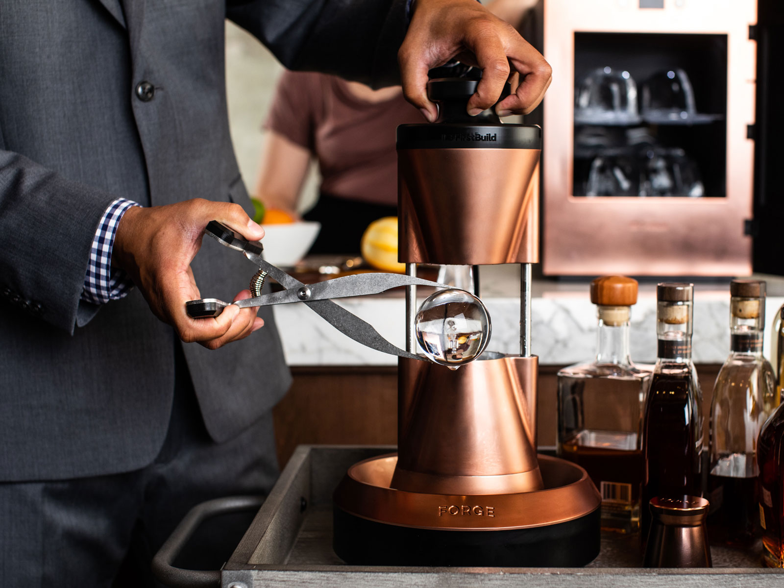 This Ge Backed Ice Maker Creates Crystal Clear Spheres For Your Home Bar Food Wine