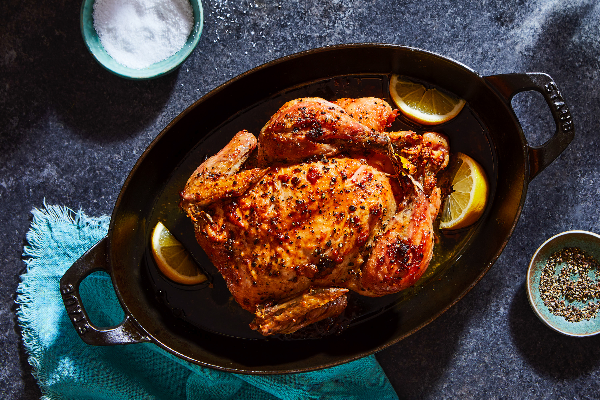 Roast Chicken With Lemons Recipe Marcella Hazan Food Wine